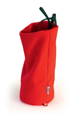 Soft, weighted storage pouch