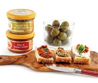 jars of tapenade with olives