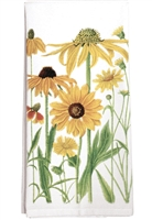 kitchen towel with daisies