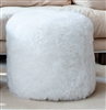 Ivory Sheepskin Ottomon