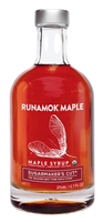 Glass bottle of Sugarmaker's Cut Organic Maple Syrup