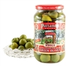 Green Castelvetrano Olives in a Glass Jar