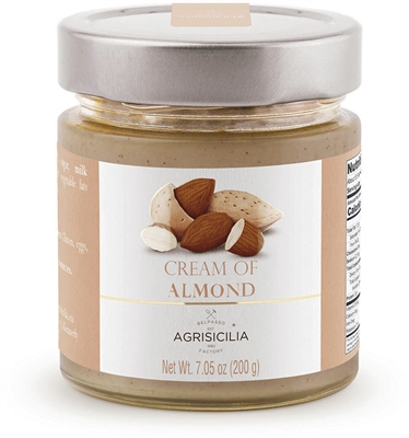 Almond Cream in a Glass Jar