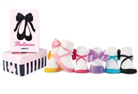 Gift Boxed Set of 6 Ballerina Socks for Baby Girls
