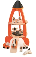 Wooden Rocket Ship Toy for Kids