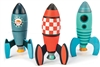 Three Wooden Rockets Construction Set