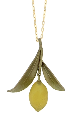 Lemon and Leaves Necklace
