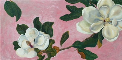 Magnolia Oil Painting by Caitlin Coreris