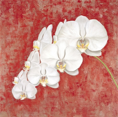 Orchids Oil Painting by Caitlin Coreris